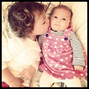 Sisterly love.