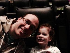 Sophia and I at the LEGO Movie.