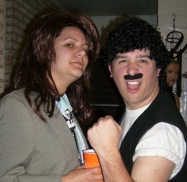 Why yes, that is Sarah and I dressed as Hall and Oates... ROCKED IT.